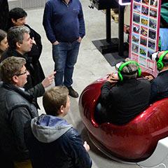 Simulateur de montagnes russes en réalité virtuelle