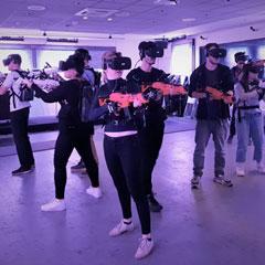 Jeu de tir et d'escape game multijoueur en réalité virtuelle