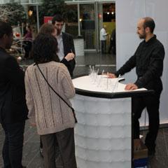 Un stand défis lors de l'animation de soirée cocktail