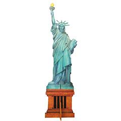 Statue de la liberté en bois peint