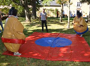 Animation de lutte en costumes de sumos