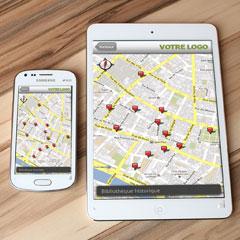 interface du rallye numérique sur smartphone et tablette