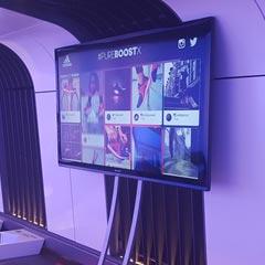 Tweet wall sur écran géant pour l'animation d'une soirée