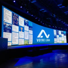 l'animation digitale social wall en version géante