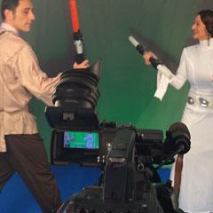 tournage d'une scène de star wars pour l'animation vidéomontage